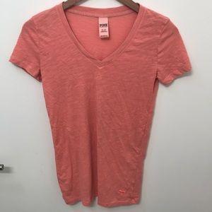 Victoria's Secret PINK orange workout shirt